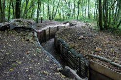 Tranchée française reconstituée par l'ANSM à Bois Brûlé