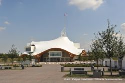 Centre Pompidou-Metz, avril 2010 © Shigeru Ban Architects Europe et Jean de Gastines Architectes, avec Philip Gumuchdjian pour la conception du projet lauréat du concours/ Metz Métropole / Centre Pompidou-Metz / Photo Roland Halbe